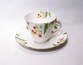 Vintage Standard China Balloon Flowers Tea Cup and Saucer