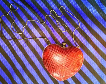 Whiting and Davis Mesh Heart-Shaped Purse