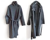 Long Demi-season Oversized Coat - Gray Coat - Autumn Woolen Clothing