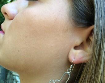 Italian marble sterling dangle earrings