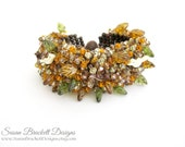 SALE Autumn Leaves Beaded Bracelet
