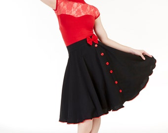 Love Lucy, Classic Black Bow skirt