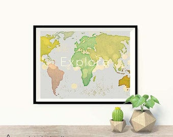 Usa Map Print Etsy - United states printable us maps