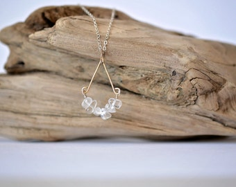 Clear Quartz Crystal and Sterling Silver Necklace
