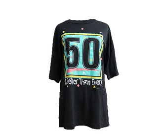 Vintage 50th Birthday Tshirt Better than Ever Size Large