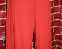 Women's Ruffle Pants - Mama Ruffles - Two Ruffles - Yoga Waistband (Custom Made) - Solid Colors XXS-4XL