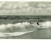 "Vintage Photo ""Crashing Waves"" Snapshot Photo Old Antique Photo Black & White Photograph Found Paper Ephemera Vernacular - 92"