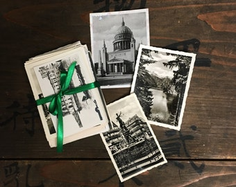 "50 pc - Souvenir Vintage Photos ""Travel Collection"" Old Photo Antique Black & White Photography Paper Ephemera - 091616"