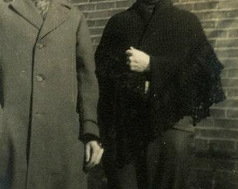 "Vintage Photo ""Cross Dressed Wife"" Odd Snapshot Photo Old Antique Photo Black & White Photograph Found Photo Paper Ephemera Vernacular - 184"