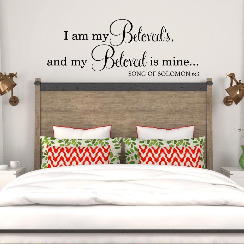 I am my beloveds and my beloved is mine wall decal master zoom amipublicfo Image collections