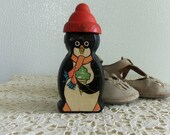 Antique Baby Toy - Penguin, Black Rubber, Mystery Toy, Display Item, Memorabilia, Collectible, Gift Idea, Doll Collectors