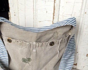 PATCH - reconstructed vintage duffle sling bag