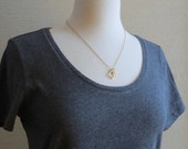 Glyph - Tiny Geo Gold Tone Geometric Necklace with Triangle and Square Pendants