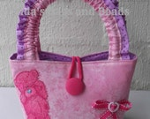 Little Girls Pink Bag with Tatty Teddy/Pink Bow on the Front.