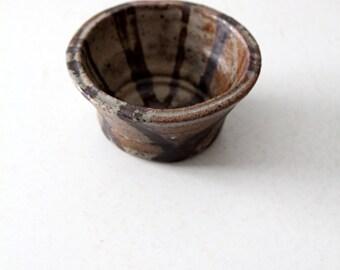 mid-century studio pottery bowl, artist signed ceramic bowl