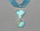RESERVED for Susan. Royston Turquoise Double Stone Pendant
