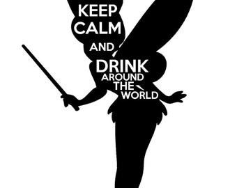 Drink Around the World- Tshirt design Tinker Bell