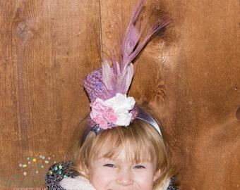 Mini Crochet Top Hat Headband, Ready to Ship, Birthday Photo Prop, Derby Hat, Easter Bonnet, Photo Prop, Cake Smash, Whimsical Festival Wear