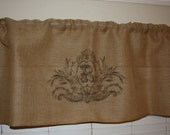 Custom monogram-Home decor-Valances-Burlap valances-Decorated with your own LETTER -No.46_Custom order for OhMoxieLady