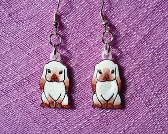 Bunny rabbit dangle earrings