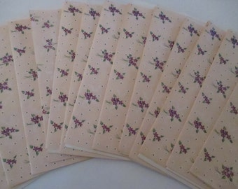 Fourteen Vintage Rust Craft Card Notecards 14 Violet Shower Invitations Notes Original Envelopes YourFineHouse SHIPSWORLDWIDE