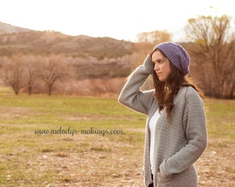 Slouchy Hat Crochet Pattern - Woman's Slouchy Hat Crochet Pattern - Girl's Slouchy Hat Crochet Pattern - Crochet Slouch Hat Pattern