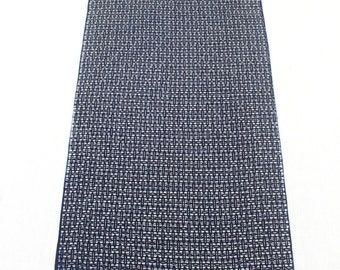 Japanese Artisan Cotton. Vintage Yukata Bolt. Blue Indigo and Gray layered Abstract Modern. Katazome Batik (Ref: 1452)