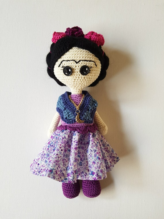 Amigurumi Monster Free Pattern : Frida Kahlo amigurumi art doll Frida by CreoErgoSumHandmade