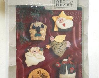 Pattern: Christmas Magnetism by Art to Heart - Angel, Santa, Snowman, Baby Jesus, Lamb, Reindeer