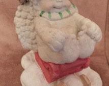 1993 Dreamsicle Poinsettia Angel In Sled Figurine