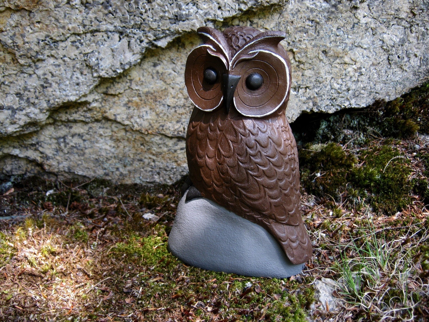 Owl lawn ornaments - Owl Statue Owl For Garden Concrete Owl Figure Concrete
