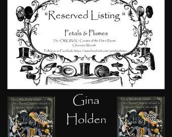 "RESERVED Installment Listing for ""GINA HOLDEN"" 3rd Installment for ""Halloween Candy Corn Flying Witch Wreath"" 2017 Delivery"