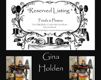 "RESERVED Installment Listing for ""GINA HOLDEN"" 2nd Installment for ""Halloween Candy Corn Witch Stand Centerpiece"" 2017 Delivery"