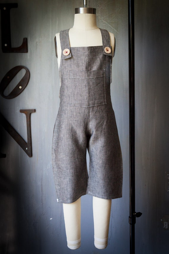 Linen Overalls Tom Sawyer - bermuda length