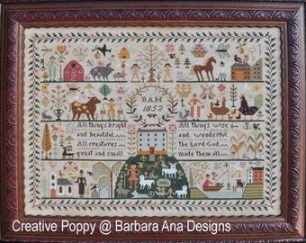 All Creatures Great And Small : Barbara Ana cross stitch patterns holidays hand embroidery