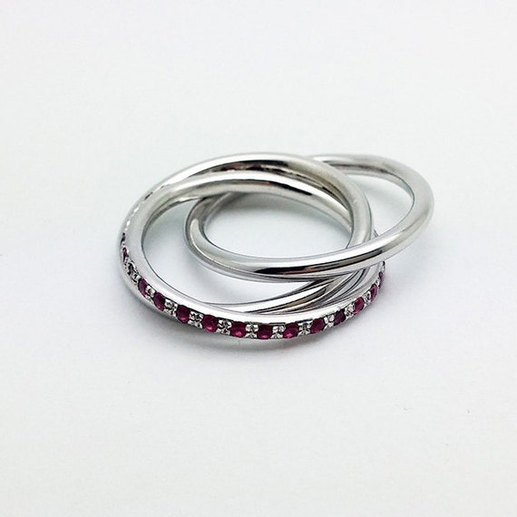 jewelry 14k white gold russian wedding ring by amallias