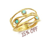 Opal gold ring. 14k yellow gold Opal ring. gift for her, opal jewelry, romantic gift, birthday gift, gold ring (1129)