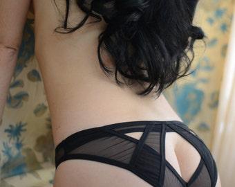 Women Sleepwear & Intimates Panties Handmade Lingerie  The Sweet Grip Mesh Panties Made to Order