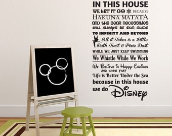 We Do Disney House Rules vinyl wall decal