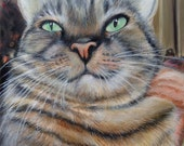 11x14 custom cat portrait painting from photo on canvas hand painted pet art Valentine's day gift