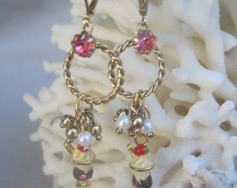 Dangling Delicious Ice Cream Sundae Earrings Ready to be Enjoyed