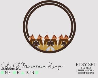 Colorful Mountain Range - etsy set
