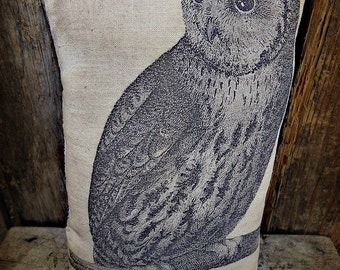 Primitive Owl Accent Pillow