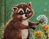 Vintage Rand McNally Book Little Raccoon