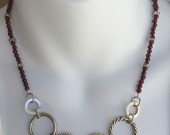 silver links and garnets