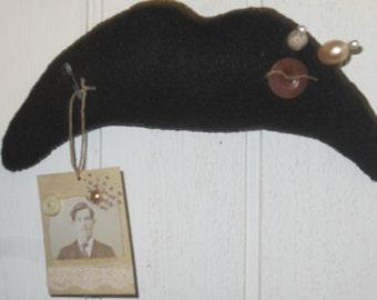 MOUSTACHE STACHE HIPSTER Make Do Hanging Steam Punk Baby Boy Nursery Decor Wedding Shower Wedding Decor  black white photo tag