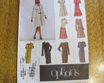 DESIGN Your Own Dropped Waist Fit and Flare SUMMER Dress - Size (12 - 14 - 16) - UNCUT Sewing Pattern Vogue Easy Options 2733