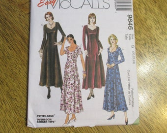 1990's BOHO Fit and Flare Long Dress w/ Sweetheart Neck & Princess Seams - Plus Size (20 - 22 - 24) - UNCUT Sewing Pattern McCalls 9646