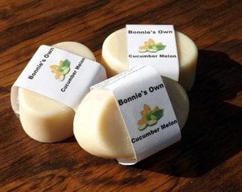 Goats Milk Soap, Cucumber Melon, 3 oz bar, Cold Process Soap, Summer Soap, Sweet Soap, Watermelon Soap, Melon Soap, Foodie Soap, Cucmber
