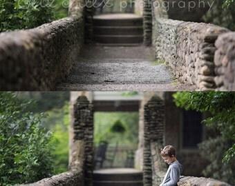 Digital Background  Stone Bridge Eliz Alex-  Instant Download, composite, stock